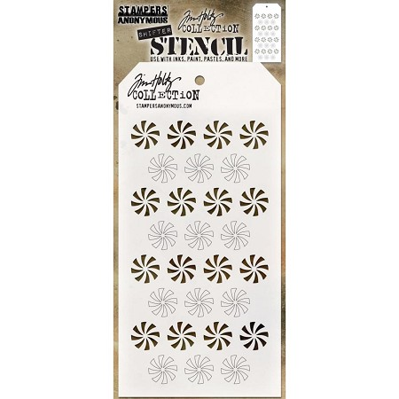 Stamper's Anonymous/Tim Holtz - Layering Stencil - Shifter Peppermint