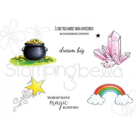 Stamping Bella - Cling Rubber Stamp - Unicorn Add-Ons