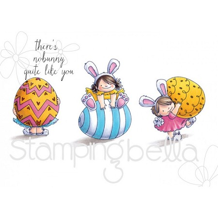 Stamping Bella - Cling Rubber Stamp - Easter Trio Squidgy