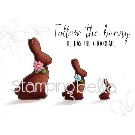 Stamping Bella - Cling Rubber Stamp - Chocolate Bunnies