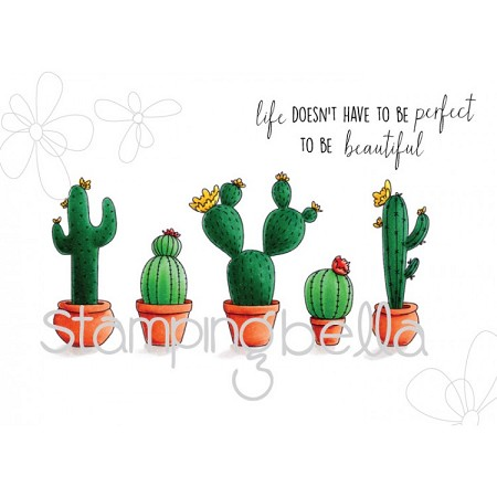 Stamping Bella - Cling Rubber Stamp - Cacti