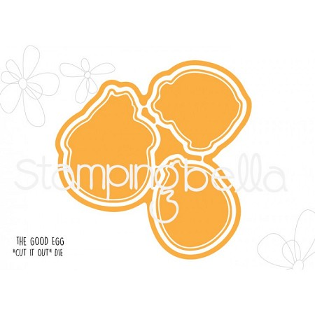 Stamping Bella - Cutting Dies - The Good Egg Chick CUT IT OUT dies