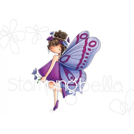 Stamping Bella - Cling Rubber Stamp - Tiny Townie Brianna The Butterfly