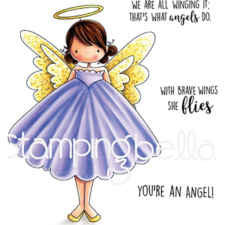 Stamping Bella - Cling Rubber Stamp - Tiny Townie Annie The Angel