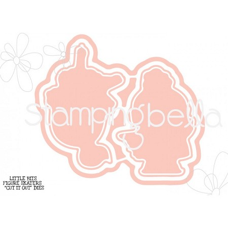 Stamping Bella - Cutting Dies - Little Bits Figure Skaters CUT IT OUT dies