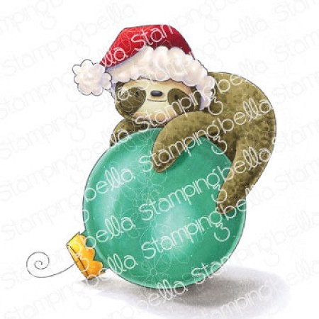 Stamping Bella - Cling Rubber Stamp - Sloth Ornament