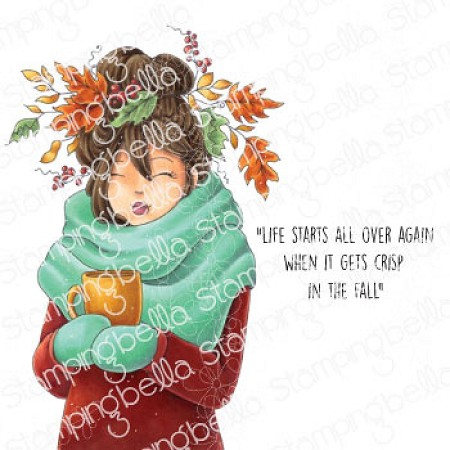 Stamping Bella - Cling Rubber Stamp - Mochi Fall Girl