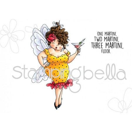 Stamping Bella - Cling Rubber Stamp - Edna needs a martini