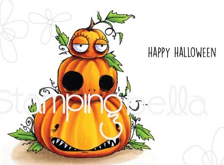 Stamping Bella - Cling Rubber Stamp - Oddball Pumpkin Pile