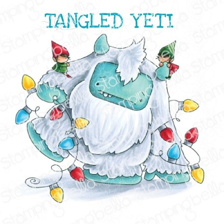 Stamping Bella - Cling Rubber Stamp - tangled YETI