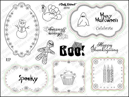 StampingScrapping-Clear Stamp-Holidays