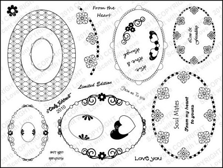 StampingScrapping-Clear Stamp-Beaded Ovals