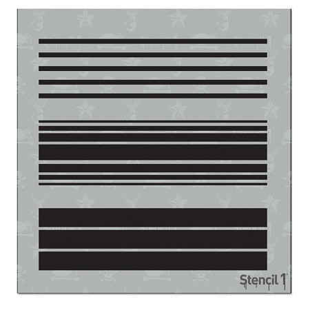 Stencil 1 - 6x6 Stencil - Various Stripes