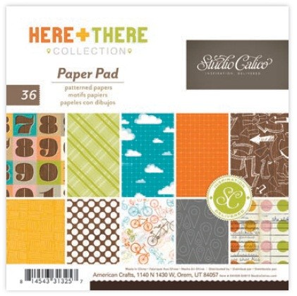 "Studio Calico - Here & There Collection - 6""x6"" Paper Pad :)"