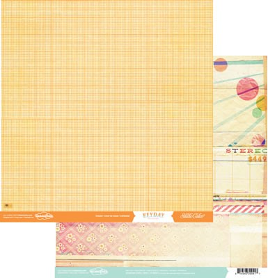 "Studio Calico - Heyday Collection - 12""x12"" Paper - Crush"