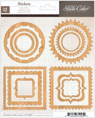 "Studio Calico - Heyday Collection - Frame Stickers  6""x7"" Sheet"