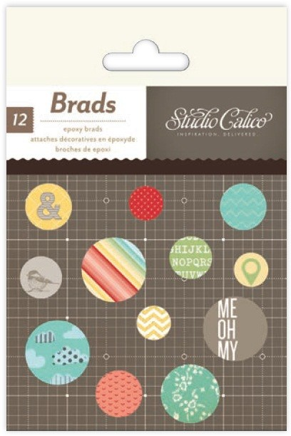 Studio Calico - Snippets Collection - Epoxy Brads
