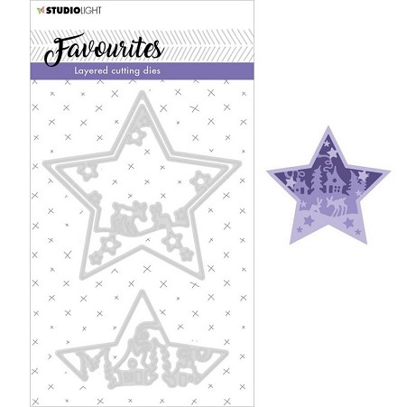 Studio Light - Essentials Winter Layering Star Die Set SL296