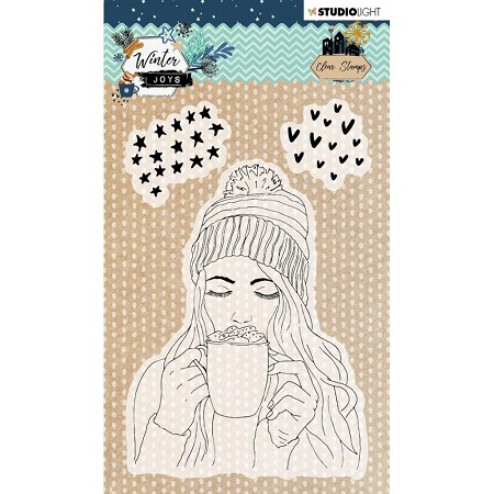 Studio Light - Winter Joys - Hot Cocoa Clear Stamp