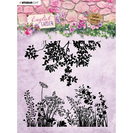Studio Light - English Garden - Silhouette Flowers Clear Stamp #435