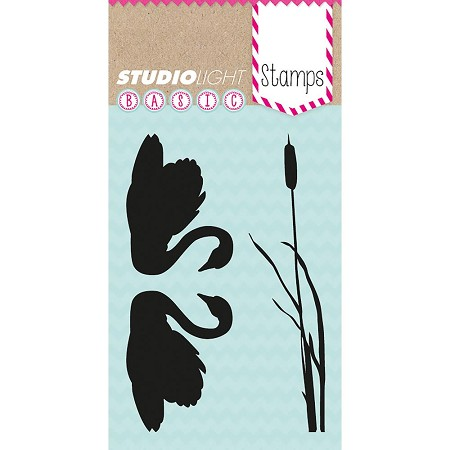 Studio Light - Basic Clear Stamp - Swans and Cattail