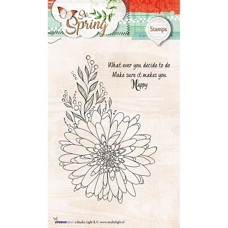 Studio Light - So Spring - Happy Dahlia Clear Stamp