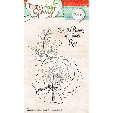 Studio Light - So Spring - Beauty Rose Clear Stamp