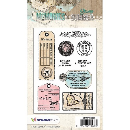 Studio Light - Memories of Summer - Post Marks Clear Stamp