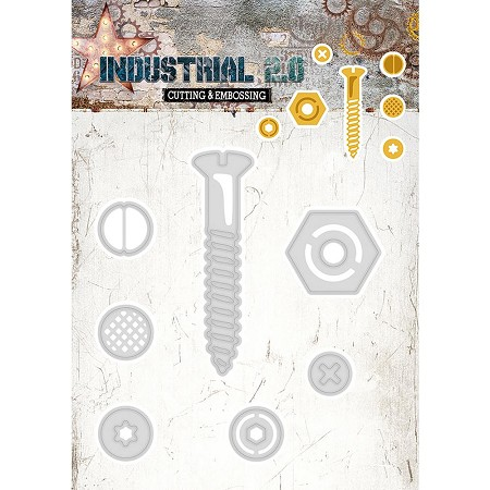 Studio Light - Die - Industrial 2.0 - Nuts & Bolts Die Set