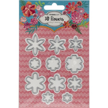 Studio Light - Die - 3D Flowers - Small Stacking Flowers Die Set
