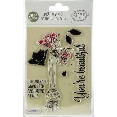 Studio Light - Clear Stamp - Veer & Moon Flower Language Amaryllis