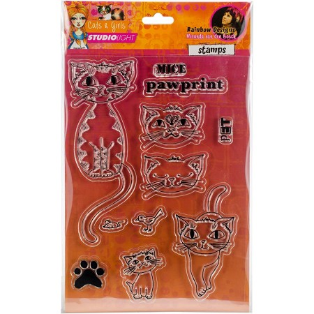 Studio Light - Clear Stamp - Cats & Girls - Mice