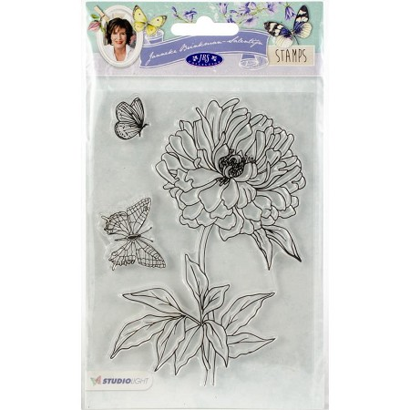 Studio Light - Clear Stamp - Janneke Brinkman-Salentijn - Dahlia