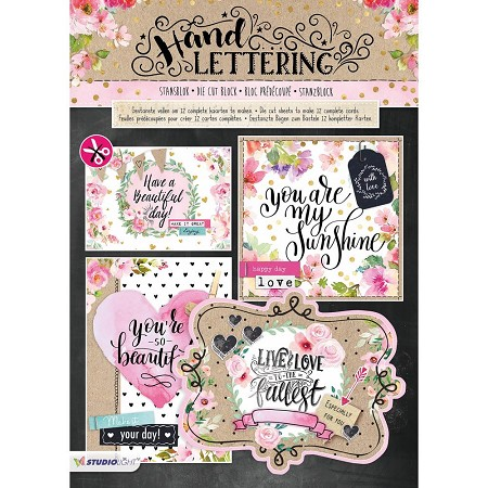 Studio Light - Die-Cut Card Topper Pad - Hand Lettering