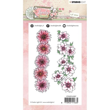 Studio Light - Lovely Moments - Floral Borders Clear Stamp