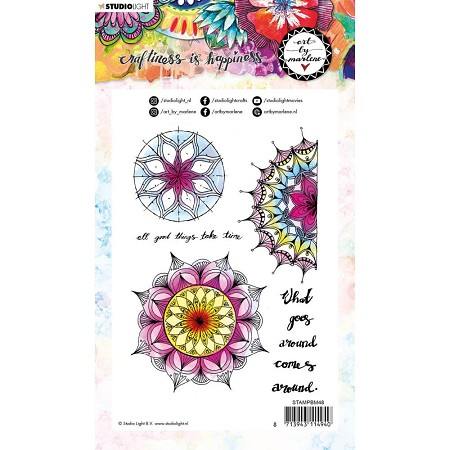 Studio Light - Mandala Tapestry Art by Marlene Clear Stamp No. 48