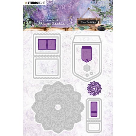 Studio Light - Jenine's Mindful Art - Mandala & Tickets Die Set