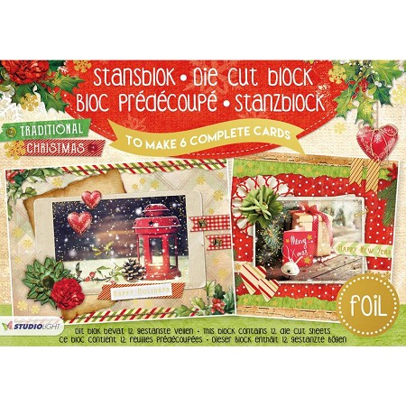 Studio Light - Die-Cut Card Topper Pad - Traditional Christmas