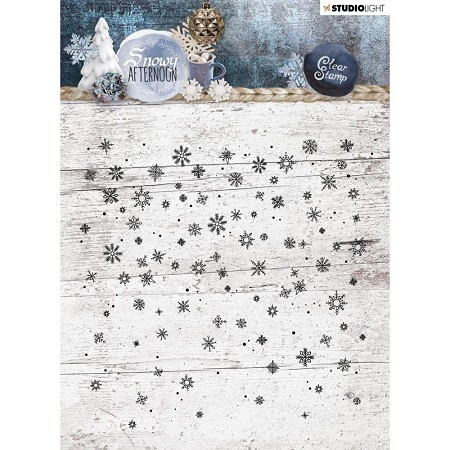 Studio Light - Snowy Afternoon - Snowflake Background Clear Stamp