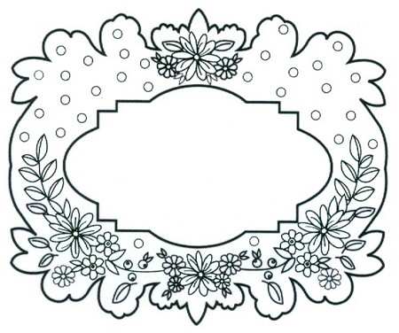Sue Wilson Designs - Cling Mounted Stamp - Floral Garland