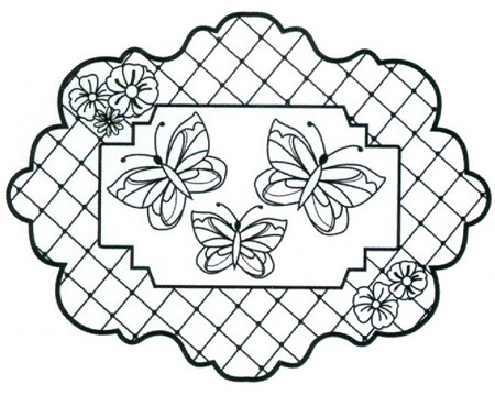 Sue Wilson Designs - Cling Mounted Stamp - Butterfly Trellis
