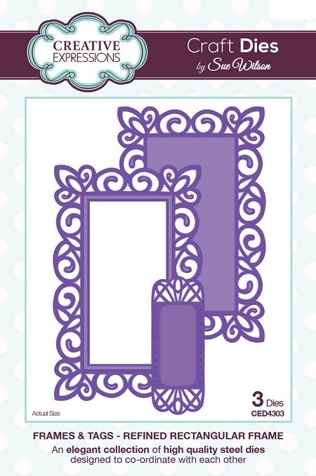 Sue Wilson Designs - Die - Frames & Tags Refined Rectangular Frame