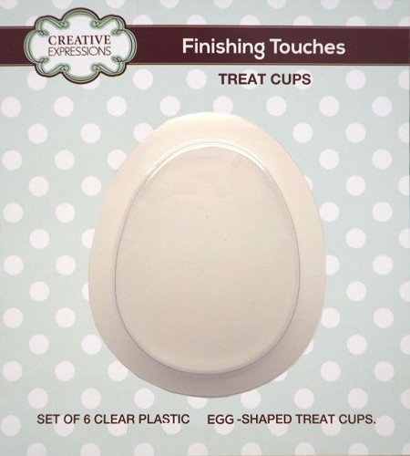 Sue Wilson Designs - Accessory - Fillables Collection - Set of 6 eggTreat Cups (for use with the egg dies)