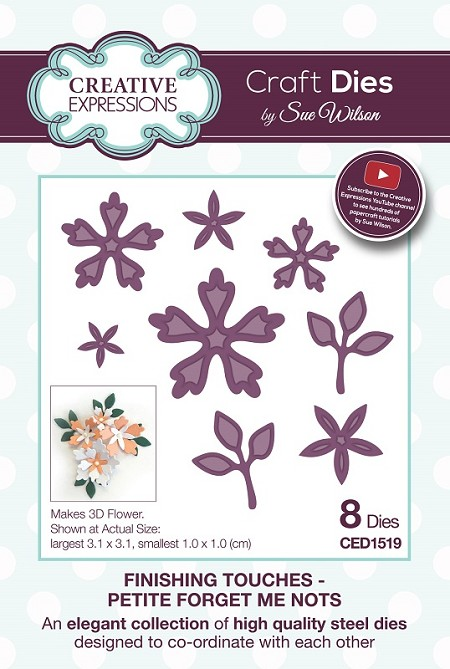 Sue Wilson Designs - Die - Finishing Touches Collection - Petite Forget Me Nots