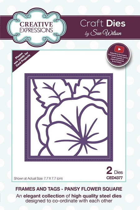 Sue Wilson Designs - Die - Frames & Tags - Pansy Flower Square