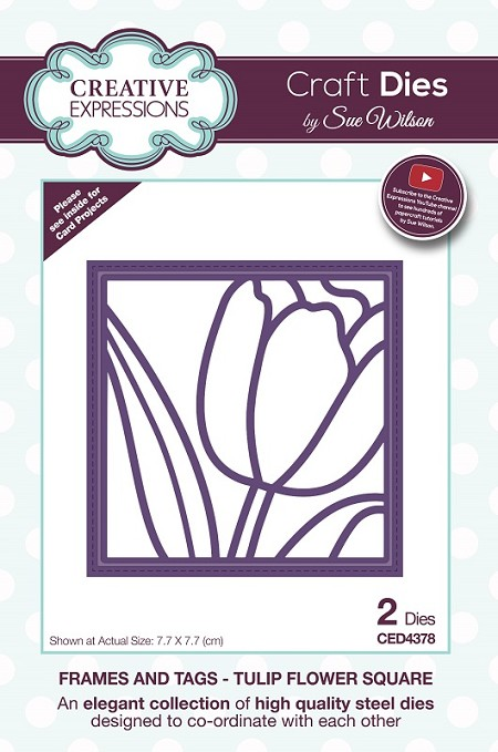 Sue Wilson Designs - Die - Frames & Tags - Tulip Flower Square