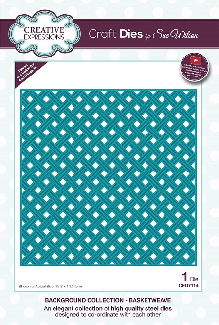 Sue Wilson Designs - Die - Backgrounds Collection - Basketweave
