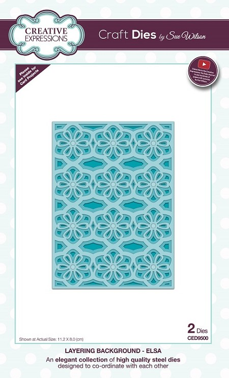 Sue Wilson Designs - Die - Layering Backgrounds Collection - Elsa