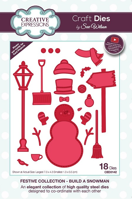 Sue Wilson Designs - Die - Festive Collection Build A Snowman