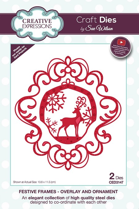 Sue Wilson Designs - Die - Festive Frames Collection Overlay and Ornament